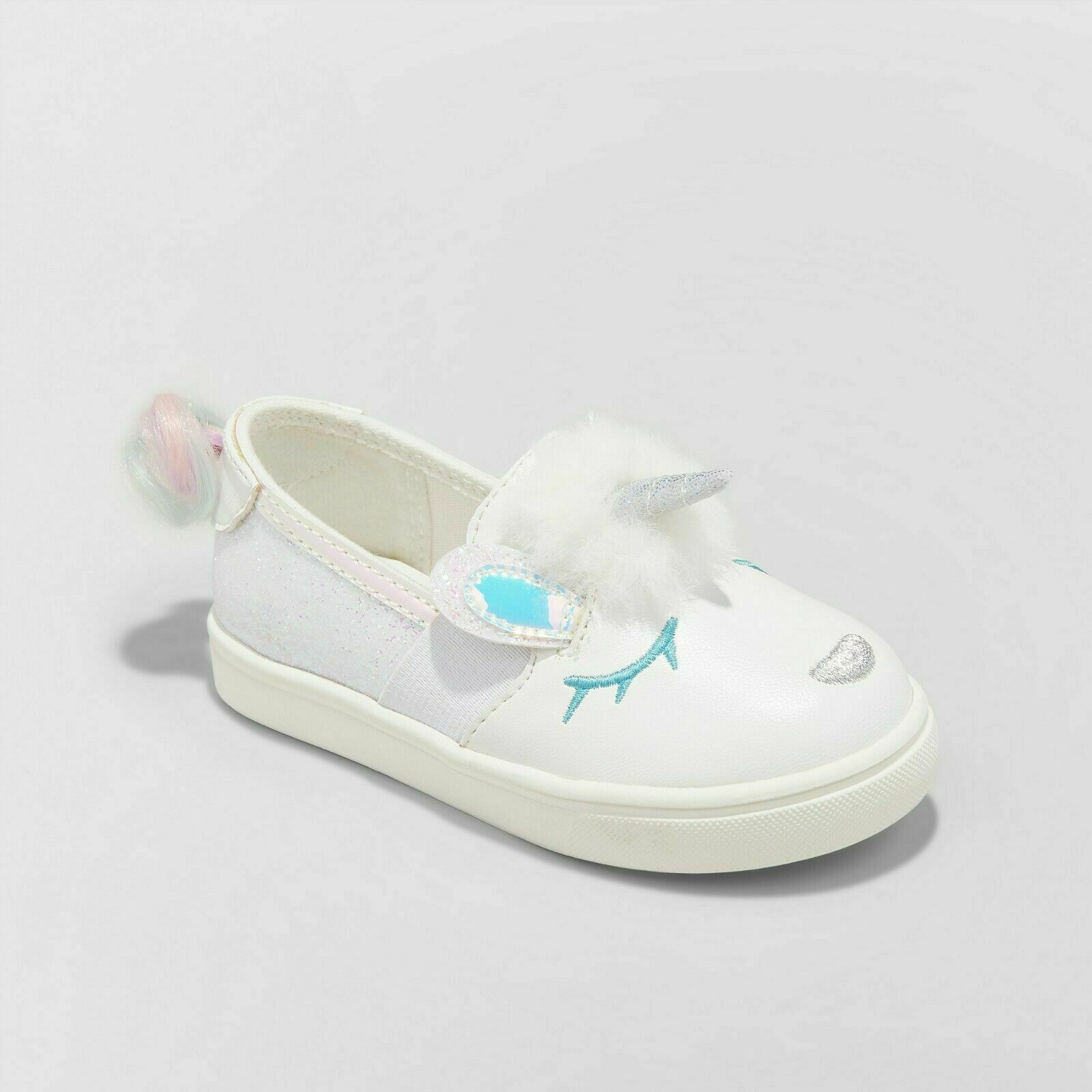 Cat & Jack Toddler Girl Unicorn Fashion Shoes 7 White Angel