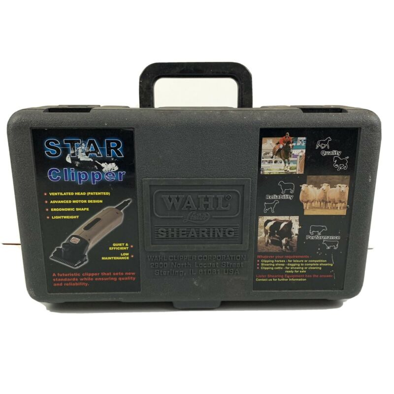 Lister Shearing Star Clipper Set Case Blades Wahl Sheep Horse Cattle Livestock