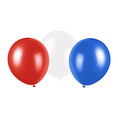 Queen's 90th Birthday Jubilee UK Union Jack Colour Balloons - Red, White & Blue