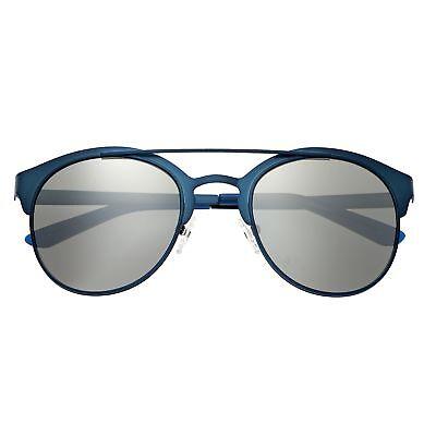 Breed Phönix Blau Titan Polarisierend Silber Objektiv Herren Sonnenbrille 036bl