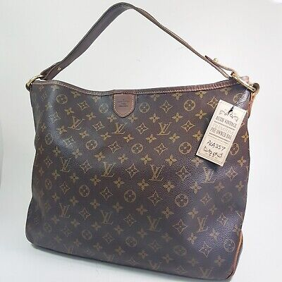 Authentic Louis Vuitton Delightful MM Monogram M40353 Guaranteed Shoulder ALA357