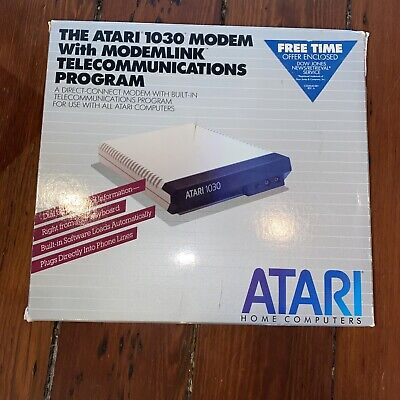 Atari 1030 Modem With Modemlink With Original Packaging And Manual