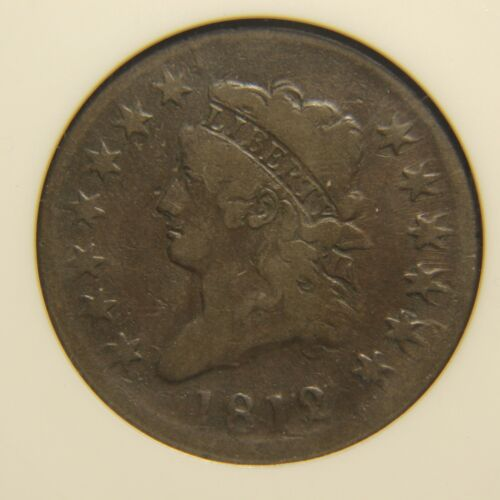 1812 Classic Head Large Cent, S-289, F-12, Large Date