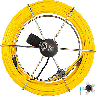 50m Length Pipe Inspection Camera Cable With Handle System Sewer Drain Pipeline