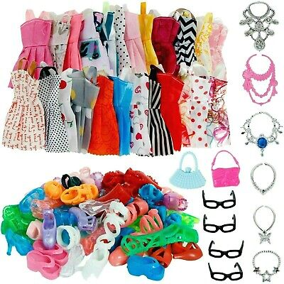 New Clothes And Accessories For Barbie Doll 32 Pcs Party Dress Fashion Outfit