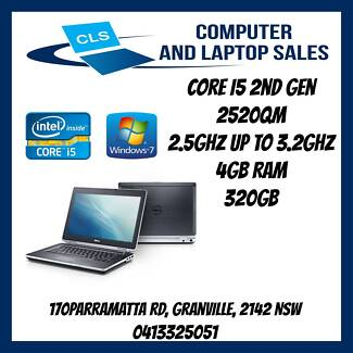 DELL E6320 Core i5-2520 4GB 320GB DVD RW Win 7 Pro Granville Parramatta Area Preview