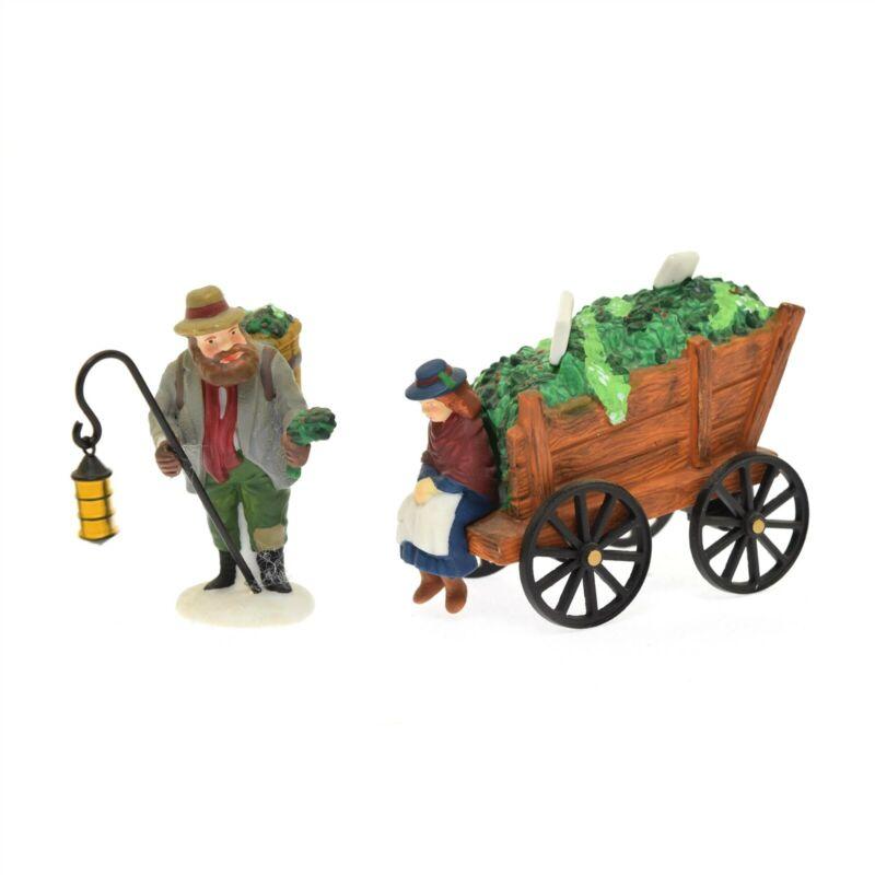Department 56 Heritage Village Chelsea Market Mistletoe Monger & Cart 2 Piece