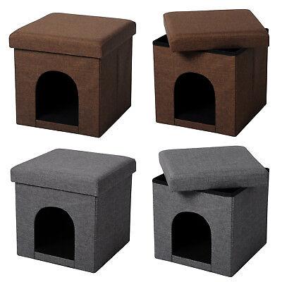 Sitzhocker faltbarer Sitzbank Katzehöhle/ Hundhöhle Fußhocker Polsterhocker e226