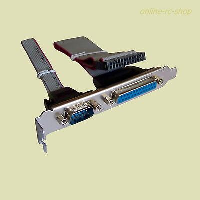 Delock Slotblech extern 1x Seriell DB9 Stecker und 1x Parallel DB25 Buchse 83445