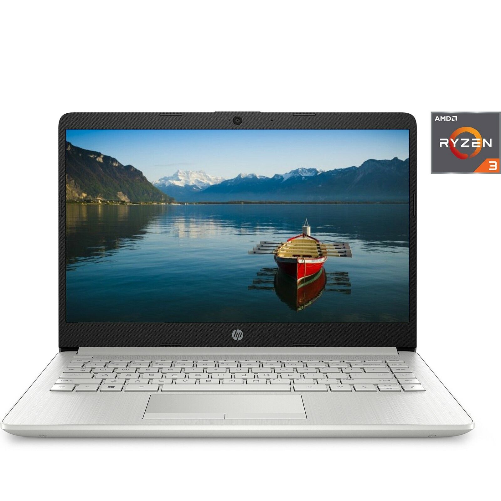 "Laptop Windows - NEW HP 14"" HD laptop AMD Ryzen 3 3.5GHz 128GB SSD 4GB RAM Mic Webcam Windows 10"