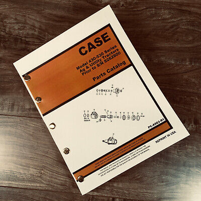 Case 430 530 Belowsn 8262800 Ag Tractor Parts Manual Catalog Exploded Views