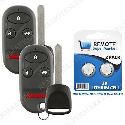 2 Replacement for 2002 2003  Honda CR-V CRV Remote Car Keyless Key Fob Set