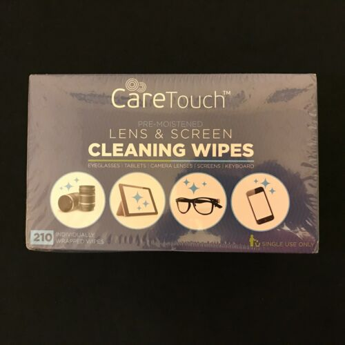 CareTouch Lens Screen Cleaning Wipes Camera Monitor Laptop Glasses Tablet 210 ct