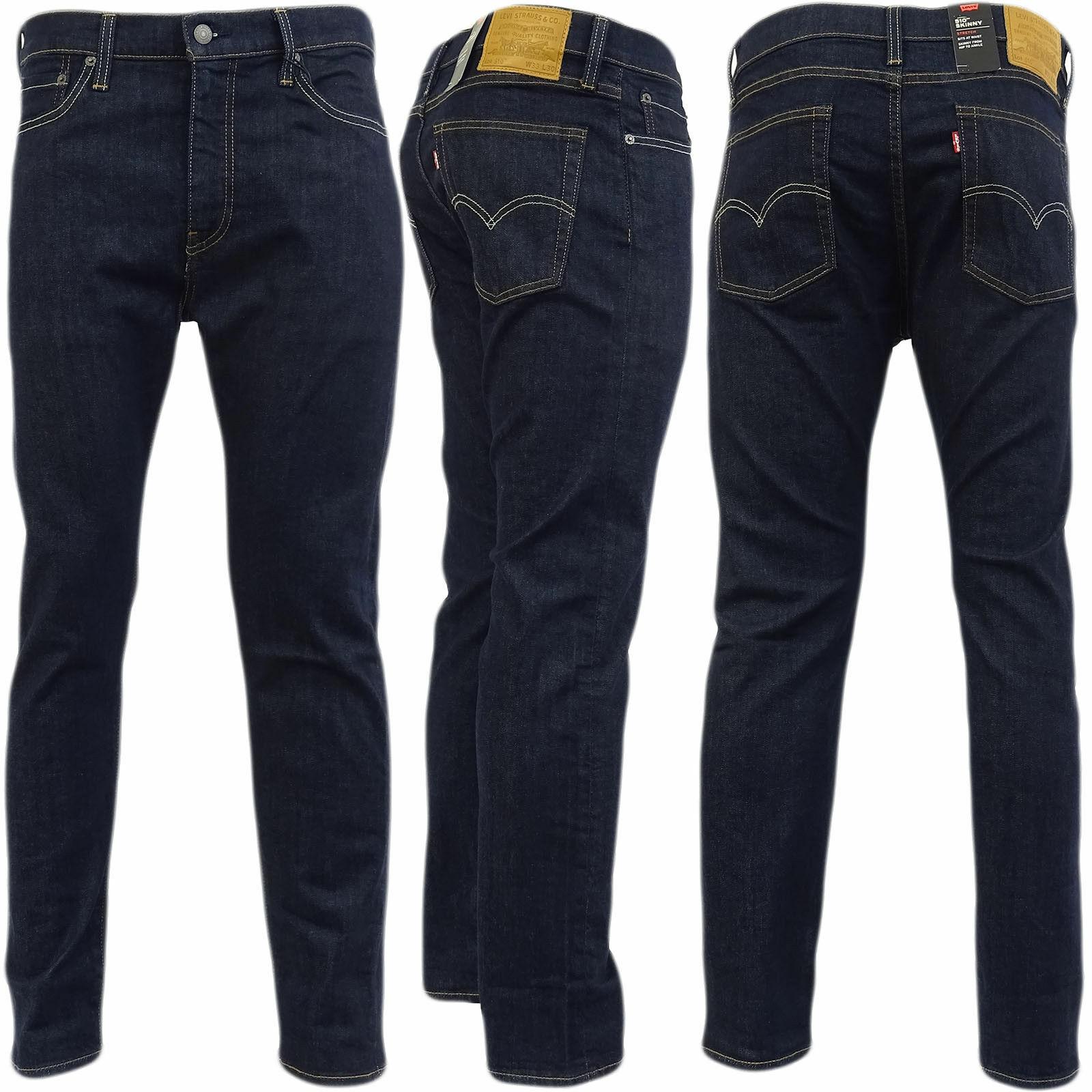 Levi's 510 Advanced Stretch Skinny Fit Mens Jeans Cleaner ADV STR Dark Blue New