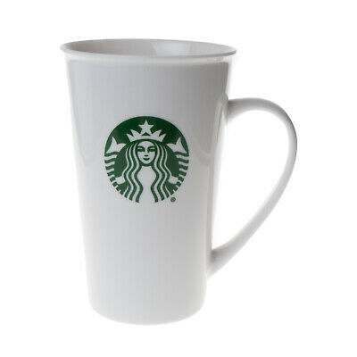 Starbucks Classic Tall White Mug With Mermaid Symbol 17.8 fl.oz. 2016