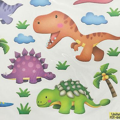 Jurassic World Wall Decal stickers Kids Room Removable Nursery Sticker Dinosaur