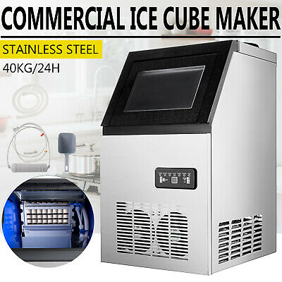Stainless Steel Commercial 90lbs Undercounter Ice Maker Machine Air Cooled Cube