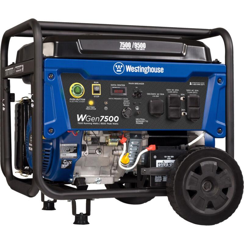 Refurbished Westinghouse WGen7500 Gasoline Powered Portable Generator