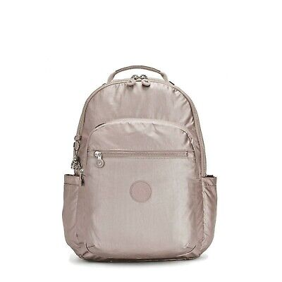 NWT Kipling Metallic Rose Seoul Diaper Backpack with Changing Pad-MSRP $169