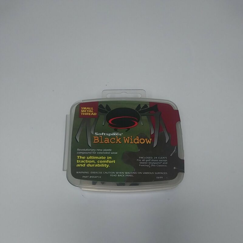 NEW Softspikes Black Widow 24 Small Metal Thread Golf Shoe Spikes Cleats Set