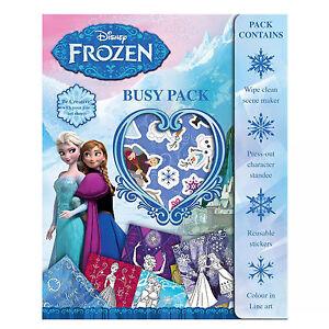 pour enfants activit busy pack disney la reine des neiges petit cadeau no l ebay. Black Bedroom Furniture Sets. Home Design Ideas
