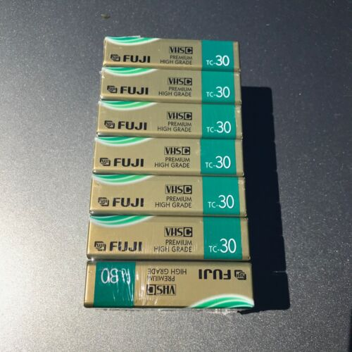 FUJI TC-30 VHS-C tapes (7) seven factory sealed FREE SHIPPING!!