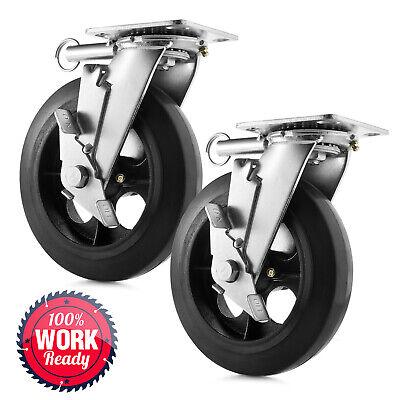 8 X 2 Heavy Duty Swivel Caster Wheels - Set Of 2