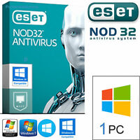 Eset Nod32 Antivirus 2017- 1pc / 2 Anni ( Licenza Originale ) Durata Vera -  - ebay.it