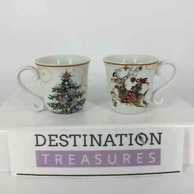 Williams Sonoma Twas The Night Before Christmas Pair Of Espresso Cups 2 Oz