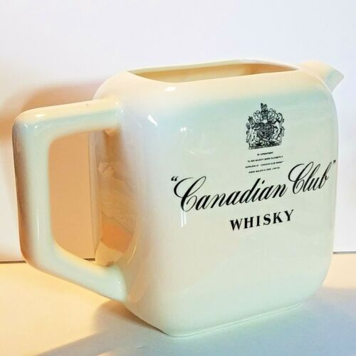 """Canadian Club Whisky Pitcher Queen Elizabeth II Royal Seal 5 1/2"""" Tall"""