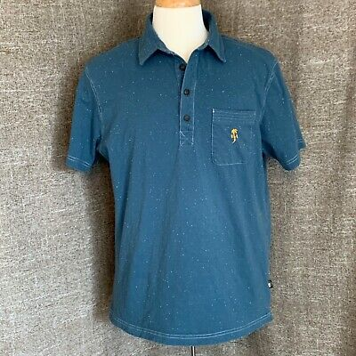 Howler Brothers Electric Logo Blue Pocket Polo Shirt