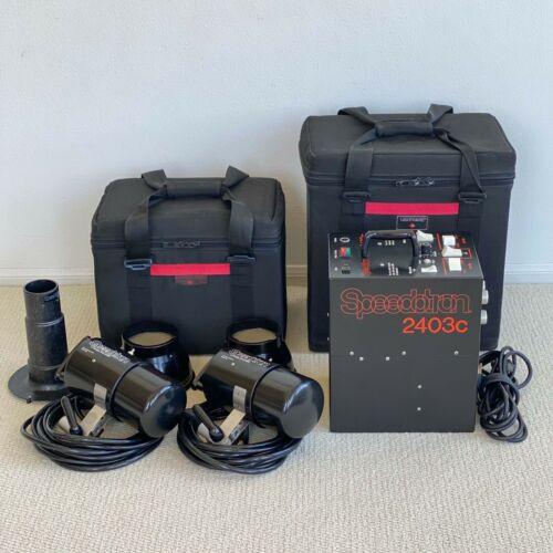 ((( Speedotron Black Line 2403c  Power Supply & 102 Flash Heads  w/cases )))