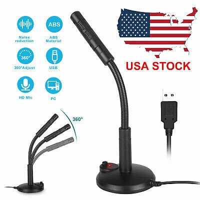 USB Mini Condenser Microphone Stand Desktop Recording Mic Fo