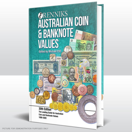 Renniks Australian Coin & Banknote Values 30th Edition Hardcover - NEW EDITION