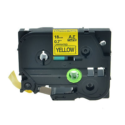 3pk Black On Yellow Label Tape Tz641 Tze641 For Brother P-touch Pt-2310 18mm