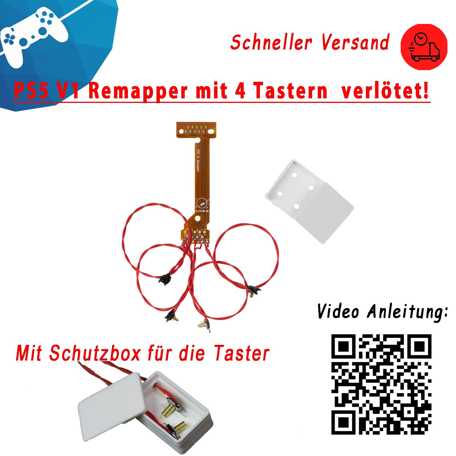 PS5 Controller 4er Easy Remapper verlötet V1 Scuf Chip BDM010 mit 4 TasternBox