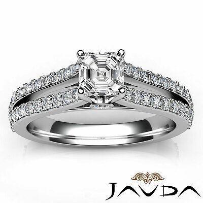 Asscher Cut Prong Set Diamond Womens Engagement Ring GIA G VS2 Platinum 1.15Ct 3