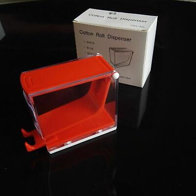 Dental Storage Box Cotton Roll Dispenser Holder Press Type Color Red