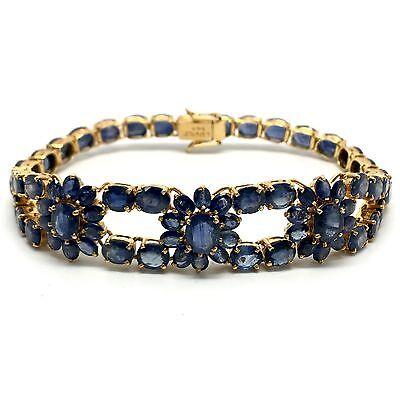 14k Natural Sapphire Bracelet. September Birthstone 16.20 Grams.