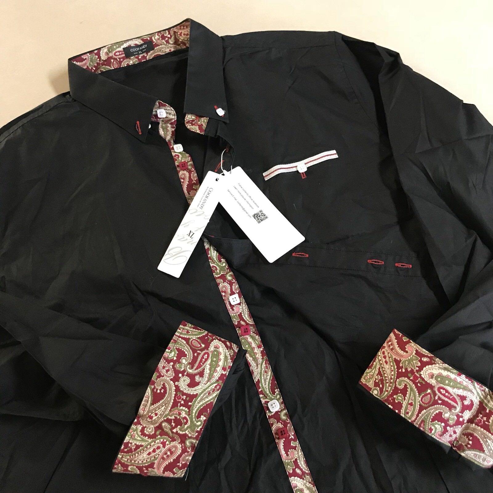 COOFANDY Men's DRESS SHIRT Button Down Long Sleeve Casual Si