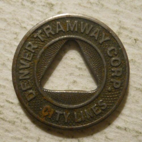 Denver Tramway Corp. (Colorado)  transit token - CO260J