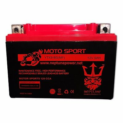 YTX9-BS Battery Honda TRX 125 250 300 400 700 EX 400EX Sportrax Fourtrax FirstP