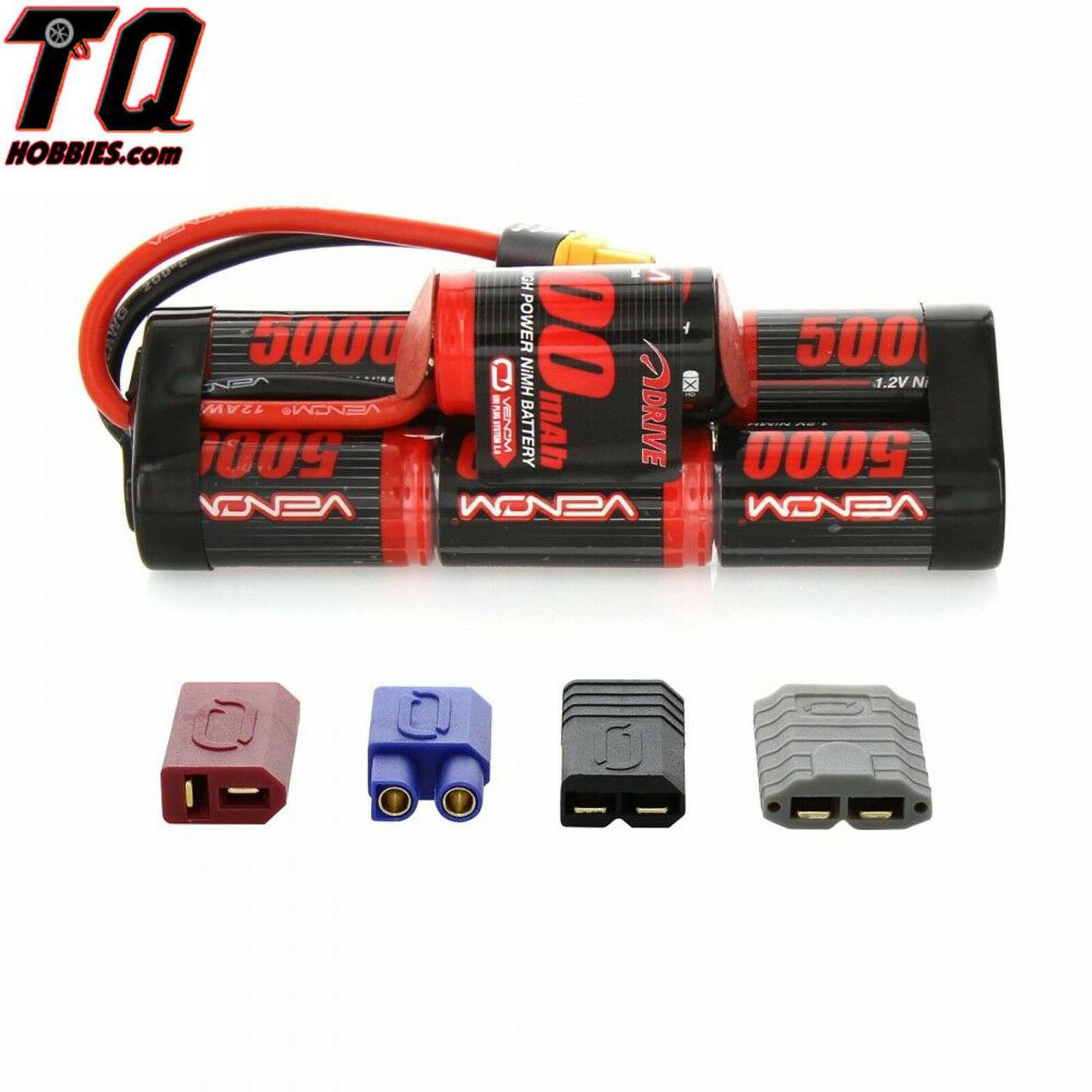 Venom 8.4v 5000mAh 7-Cell Hump Pack NiMH Battery with Univer
