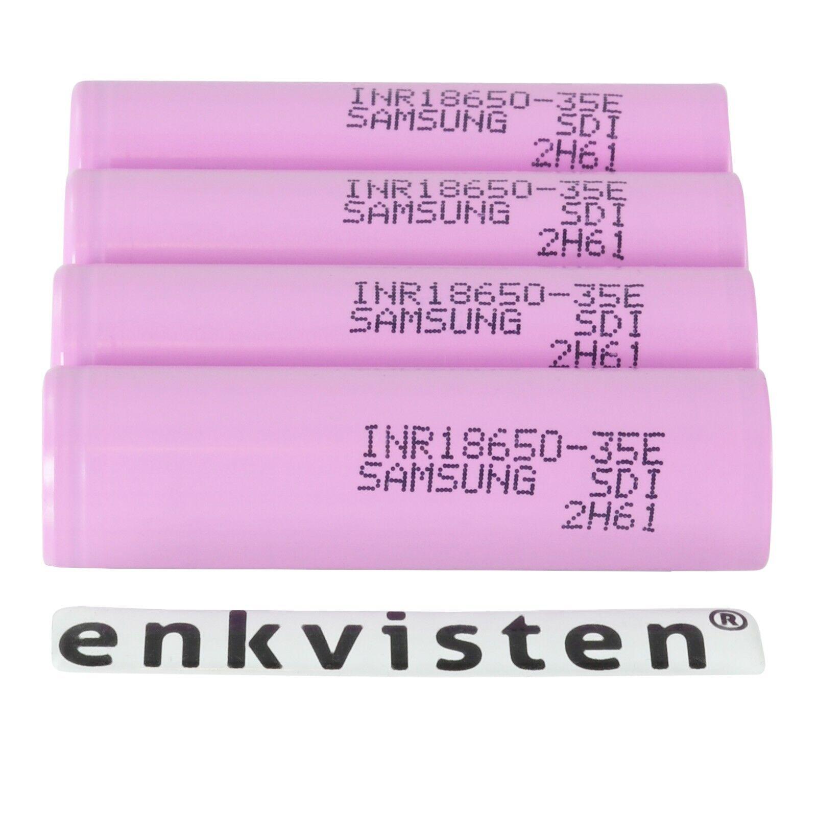 Samsung INR18650-35E Akku - 3450mAh 3.7V Zelle - Menge 1/2/3/4/6/10 Stück Li-Ion