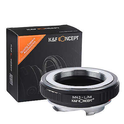 - K&F Concept Lens mount adapter for M42 mount lens to Leica M camera M-P M240 M10
