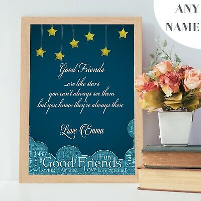 PERSONALISED Gifts for Best Friend Christmas Xmas Birthday Presents for Her V6.1 ()