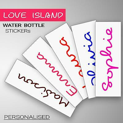 Home Decoration - Love Island Text Personalised Name Of Water Bottle Make Own Vinyl Decal