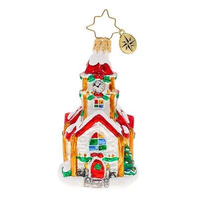 [NEW Christopher Radko CHRISTMAS CHAPEL Christmas Ornament 1020244 Little Gem</Title]