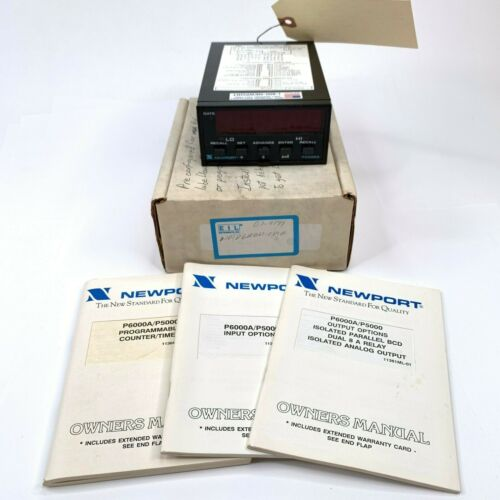 NEWPORT ELECTRONICS  P6000A  Multifunction Counter For Refiner Lube Flow Meters