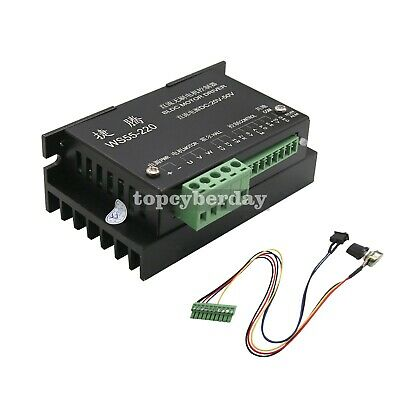 Cnc Ws55-220 Brushless Spindle Bldc Motor Driver Controller Mach3 Speed 48v 500w